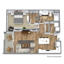 Spur 16 A2 floor plan includes 1 bedroom and 1 bath townhomes that are available to rent today.