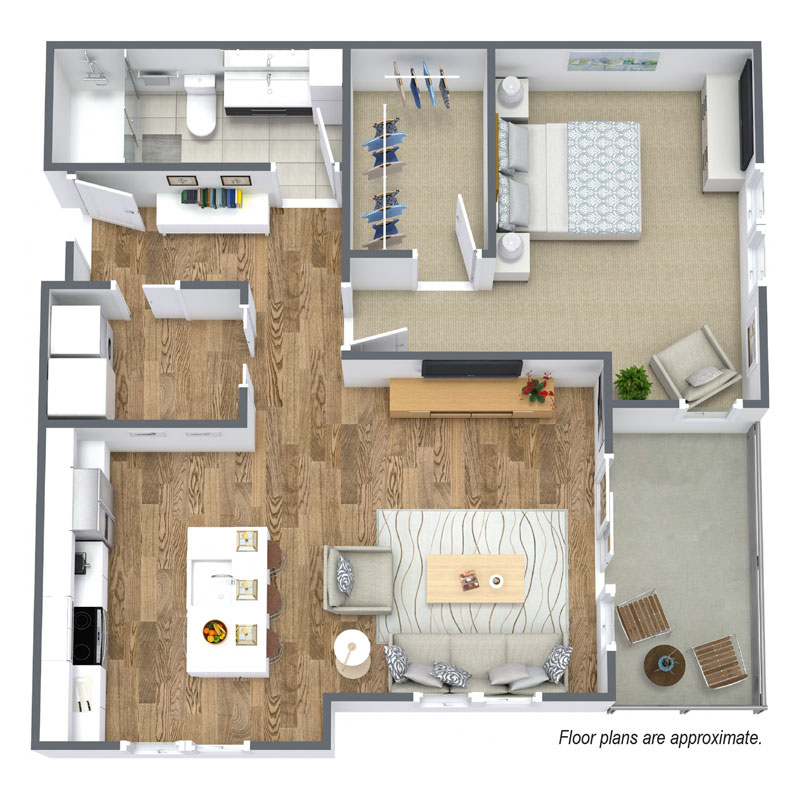 Spur 16 in Mequon Wisconsin has a floor plan A4 that includes 1 bedroom and 1 bath available to lease.
