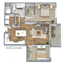 Spur 16 B2 Floor plan is available to lease and includes bedroom and 1 bath.