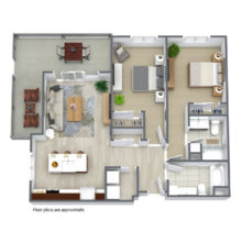 Wisconsin Spur 16 , C2 floor plan, includes 2 bedrooms and 2 baths available for lease.