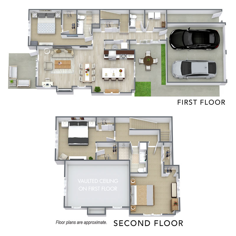 Spur 16 townhomes provide modern 3 bedroom and 2.5 bath floor plans. View our C1 floor plan.