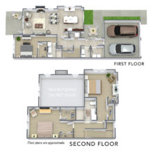 Spur 16 has 3 bedroom and 2.5 bath floor plans. View Spur 16's C2 floor plan)